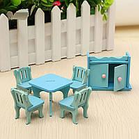 Деревянная мебель кукольный дом куклы миниатюрная столовая комплект детский комплект роль играют игрушки