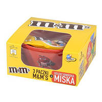 Подарочный набор M&M's с миской для завтрака и конфетами (арахис),135 г.