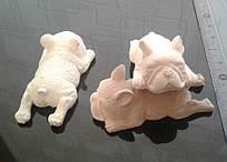 Собачка Мопс - раскраска из гипса
