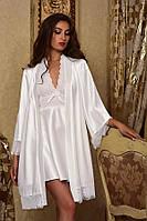 Белоснежный халат с пеньюаром для Невесты Шанталь