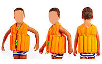 Жилет спасательный детский  (EPE, PL, р-р L-11-14лет, оранжевый, салатовый)
