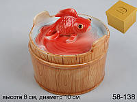 """Банка с крышкой  """"Золотая рыбка"""", 8х10 см"""