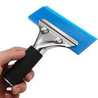 Оконная пленка лезвия Оттенок инструмент скребок воды ракель инструмент с ручкой синего