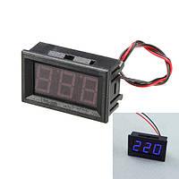 3шт 0.56 дюйма синий ac70-500v мини цифровой вольтметр напряжение приборная панель переменного напряжения LED дисплей измерительный прибор