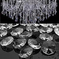 50шт прозрачные кристаллы стеклянные люстры подвесные лампы призмы части висячей капли 18мм