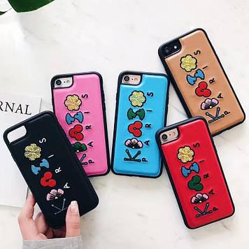 """Iphone 6 / 6s / 6plus оригинальный кожаный чехол панель бампер накладка НАТУРАЛЬНАЯ КОЖА  """" KENZO """""""