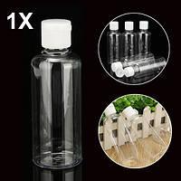 100мл прозрачные пластиковые бутылки для путешествия косметический лосьон контейнер с белых колпаках