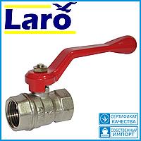 Кран шаровый латунный для воды Ду15 Laro top art 105