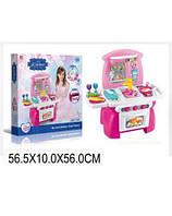 Игровой набор игрушечная Кухня 1526 газовая плита, духовка, мойка и набор посуды