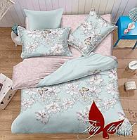 Комплект постельного белья сатин евро TM Tag 103