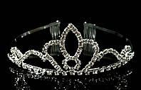 Диадема корона с гребешками, высота 4 см