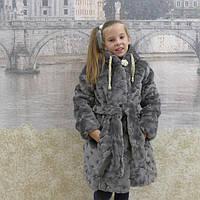 Зимняя шуба для девочки с капюшоном Украина