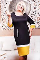 Платье Френка LE-2210 (черный+горчица) , фото 1