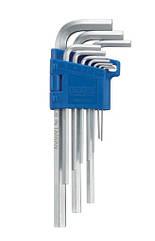 Набор ключей 6-гр. (HEX) Г-обр. экстрадлинных 10 пр. (1.27-10 мм) INFO 9102XL