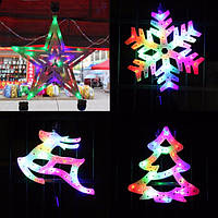 110v 220v Рождественская елка лосей снежинка звезда декоративный LED красочный свет домашнее украшение окна