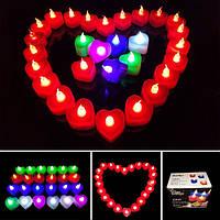 1шт батарейках свет водить свечки беспламенные красочные электронные свечи партии свадебный декор