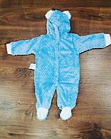 Человечек для новорожденных — сине-голубенький с ушками. Размер 20