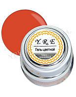 Гель для дизайна ногтей цветной YT-GEL-06, темно-оранжевый, металлическая баночка 7 мл, гель цветной для ногтей, гель для дизайна, гель краска