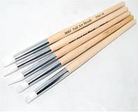 Набор кистей для дизайна ногтей YRE NSKG-06, силиконовые, в наборе 5 шт., кисть для росписи ногтей, кисть для моделирования, кисть для дизайна