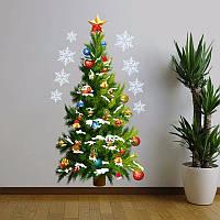 Рождественская елка съемная поделки окно стикер стены украшения домашняя вечеринка
