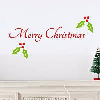 Красочные веселые рождественские слова пвх рождество съемный поделки стикер стены домашнего декора