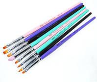 Набор кистей для рисования на ногтях YRE NKCF-01, цветная ручка, в наборе 8шт., кисть для росписи ногтей, кисть для моделирования, кисть для дизайна