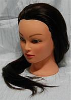 Голова учебная для парикмахера YRE-4-521-4A#, искусственные термо волосы, голова-манекен, Учебная голова манекен, учебный манекен для мастера