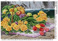 """DANA Схема для вишивки бісером А3 формату """"букет з  жовтими трояндами"""""""