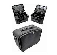 Сумка мастера TJ-27, черная, Внутри имеет ящики для инструментов, сумка мастера для косметики, чемодан мастера