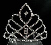Диадема корона с гребешками, высота 9 см