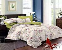 Комплект постельного белья сатин евро TM Tag 111