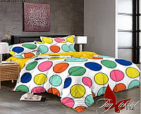 Комплект постельного белья сатин евро TM Tag 112