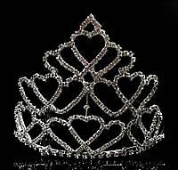 Диадема корона с гребешками, высота 11 см