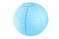 Бумажный подвесной шар голубой, 40 см