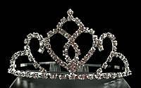 Диадема корона с гребешками, высота 4,5 см