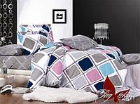 Комплект постельного белья сатин евро TM Tag 114