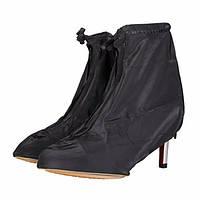 Женщины водонепроницаемый дождь ботинки покрывают ботинки высокой пятки препятствующую скольжению галоши дождевик