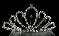 Диадема корона с гребешками, высота 5,2 см