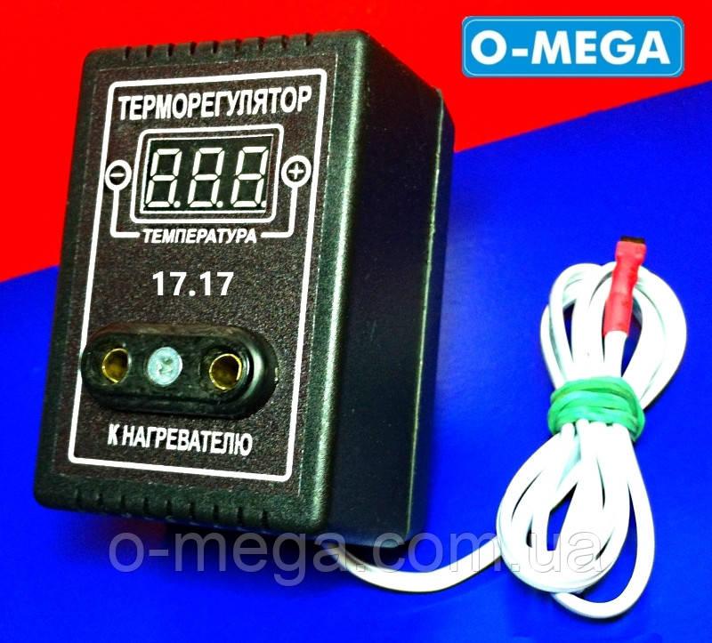 Терморегулятор с плавным включением нагрузки O-MEGA 17.17 цифровой для инкубатора