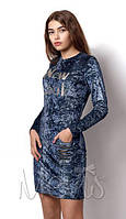 Стильное платье для девочки подростка с длинным рукавом