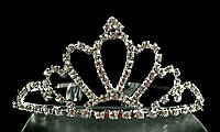 Диадема корона с гребешками, высота 4,7 см