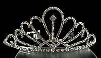 Диадема корона с гребешками, высота 5 см