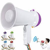 Портативный складной карманный мегафон Сиренный громкоговоритель Voice Усилитель Recorder