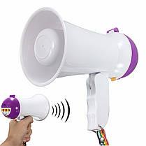 Портативный складной карманный мегафон Сиренный громкоговоритель Voice Усилитель Recorder, фото 2
