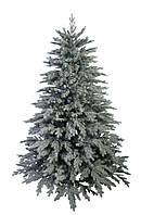 Новогодняя елка висота 210см зелено-белая заснеженная