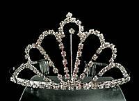 Диадема корона с гребешками, высота 6 см