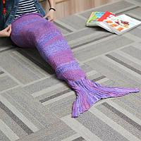 135x42cm пряжа вязание хвост русалки одеяло подарок на день рождения теплое одеяло кровати мешок коврик сна