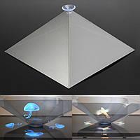 3D голографические дисплей голограмма пирамида стенд проектор творческие подарки для планшетного телефона