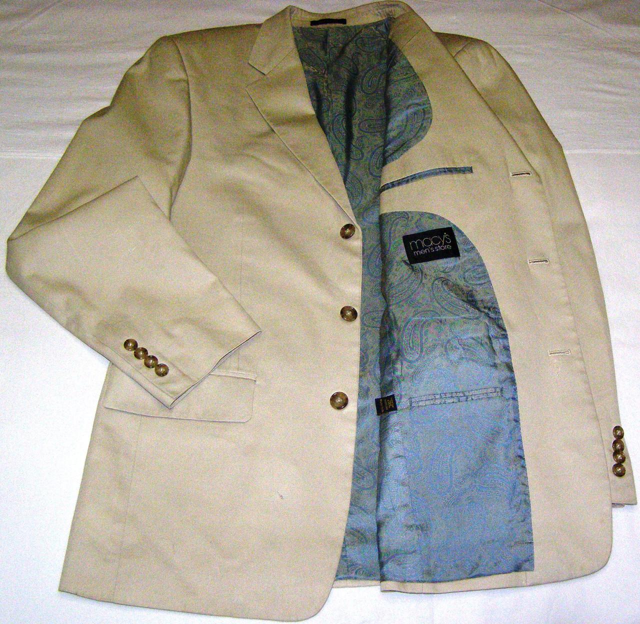 Пиджак котоновый MACYS (48-50)