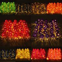 35 LED ротанг шар свет шнура дома сад фея красочный лампа свадьба Xmas декор